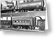 Tin Toy Trains Greeting Card