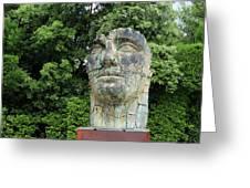Tindaro Screpolato Sculpture In Boboli Garden 0197 Greeting Card