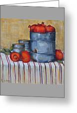 Red Pomegranates Greeting Card