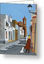 Tintin En Puerto Real Greeting Card