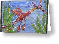 Tiny Anthropomorphic Sea Dragon 2 Greeting Card