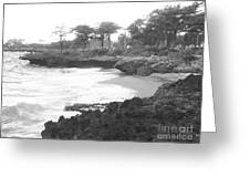 Tiny Opportunity Beach In Santo Domingo Dominican Republic Greeting Card