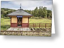 Tiny Train Station Barnet Vermont Greeting Card