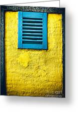 Tiny Window With Closed Shutter Greeting Card