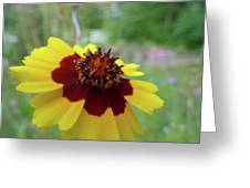 Tiny Yellow Flower Greeting Card