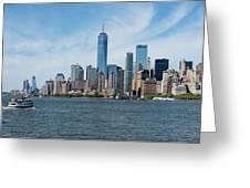 Tip Of Manhattan Wide Greeting Card