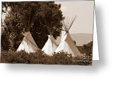 Tipis In Toppenish Greeting Card