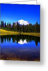 Tipsoo Lake And Mt Rainier Greeting Card