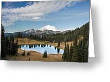 Tipsoo Lake And Rainier Greeting Card
