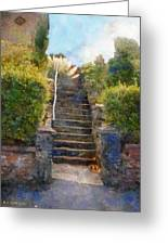 Tipsy Stairs Greeting Card