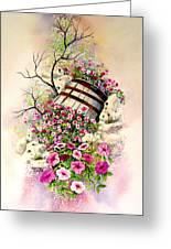 Tipsy Whiskey Barrel Greeting Card