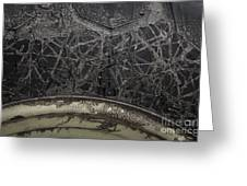 Tire And Mud Greeting Card
