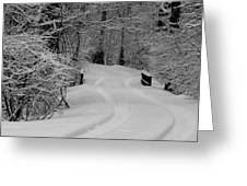 Tire Tracks Greeting Card