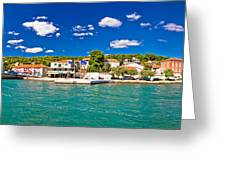 Tisno Panoramic View From Murter Island Greeting Card