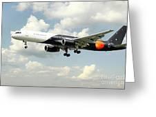 Titan Airways Boeing 757 Greeting Card