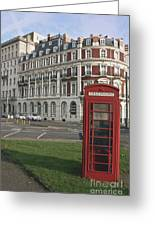 Titanic Hotel And Red Phone Box Greeting Card