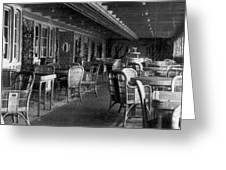 Titanic: Parisian Cafe, 1912 Greeting Card