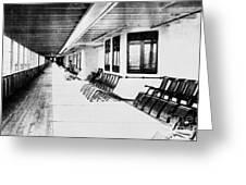 Titanic: Promenade Deck Greeting Card