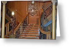 Titanics Grand Staircase Greeting Card
