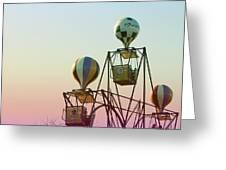 Tivoli Balloon Ride Greeting Card