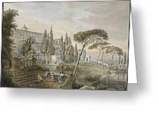 Tivoli With Villa Greeting Card