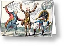 T.jefferson Cartoon, 1809 Greeting Card