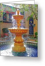 Tlaquepaque Fountain In Sunlight Greeting Card