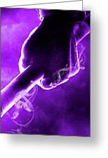 Tmnt 2   -  Donatello Smoky Purple. Greeting Card