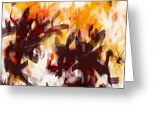 To Be With You Abstract Greeting Card