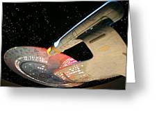 To Boldly Go Greeting Card by Kristin Elmquist