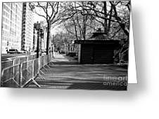 To Central Park West Greeting Card