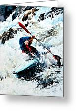 To Conquer White Water Greeting Card