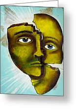 To Destroy The False Image Greeting Card by Paulo Zerbato