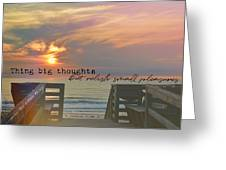 To The Beach Quote Greeting Card