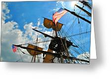 To The Maritime Sky Greeting Card
