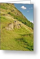 To The Top Of Arthur's Seat. Greeting Card