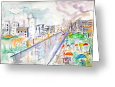 To The Wet City Greeting Card
