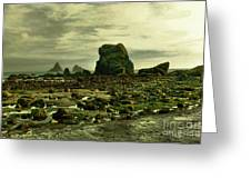 To Walk Alone Along Rocky Shores Greeting Card