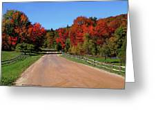 To Where Does The Road Lead Greeting Card