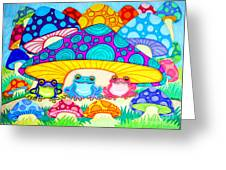 Toads And Toad Stools Greeting Card