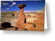 Toadstool Caprocks Utah Greeting Card