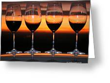 Toast At Sunset Photograph Greeting Card