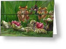 Toasted Frogs Greeting Card