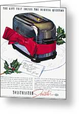 Toaster Ad, 1937 Greeting Card