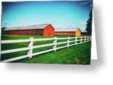Tobacco Barns Greeting Card