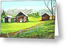 Tobacco Barns North Carolina Greeting Card