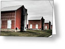 Tobacco Sheds Greeting Card