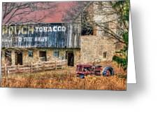 Tobacco Tractor Greeting Card
