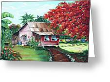 Tobago Country House Greeting Card