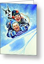 Toboggan Terrors Greeting Card